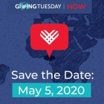 #GivingTuesdayNow - Save the date - May 5, 2020